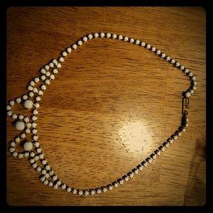 Vintage antique white stone necklace